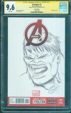 Incredible Hulk CGC 9.6 SS Greg Horn Original art Avengers 1 Sketch no 8