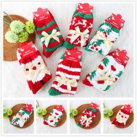 1 Pair Christmas Pattern Casual Coral Fleece Socks Winter Warm Cozy Fuzzy Socks