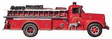 Firetruck Fire Engine Firefighter Dalmation Dog Paper House 3D Sticker