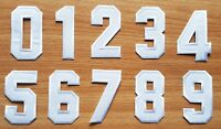 3 Inch White Number 0-9 Patches for Jeans Bags Jacket T-shirt Embroidered Sign