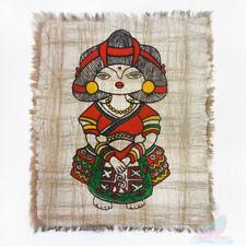 Chinese Folk Art Handmade Wall Hanging Batik Tapestry- The Yao Minority Girl