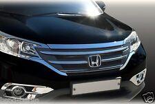 Accessories for Honda CR-V from 2012 Chrome Bonnet Grille Trim Blinds Set Of 3