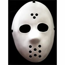 Mask Hockey Halloween Maschera Jason Horror Bianca in plastica Widmann one size
