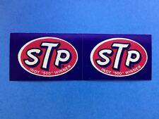2 Lot 1970's STP Motor Oil INDY 500 Winner Sponsor Decals Stickers 034