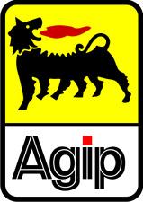 AGIP Stickers 60 x 85mm DECALS  x 2 Toolbox, Racing, Bike, helmet