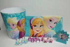 Disney Frozen Anna Elsa Bathroom Accessory Set Lot of 15pcs Turquoise