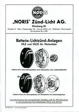 NORIS Zünd-Licht, Anleitung MLZ/s 6/25/35, D 56 (repro), (#27)