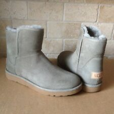 UGG ABREE MINI ROCK RIDGE SUEDE SHEARLING ZIP ANKLE BOOTS SIZE US 7 WOMENS