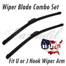 "U/J Hook Wiper Set 18""+26"" Windshield Brackletless Universal Blade #Pt29 Combo"