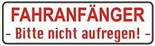 Magnetfolie Magnetschild  Fahranfänger Bitte nicht a für KFZ  20 x 6 cm