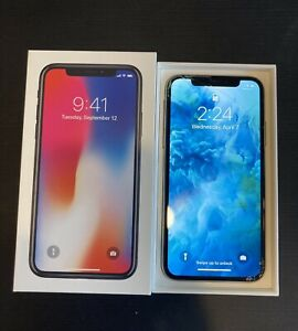 Apple iPhone X Used - 64GB - Silver - CDMA/GSM Unlocked *See Pictures!!*