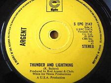"""ARGENT - THUNDER AND LIGHTNING  7"""" VINYL"""