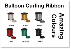 150 M (6 x 25m Reels) Balloon Curling Ribbon - Pick 'n' Mix From 6 amazing color