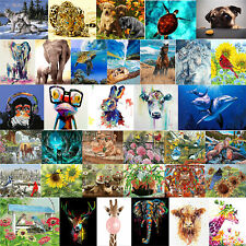 DIY Oil Painting by Numbers Animals Paint Drawing Canvas for Adults Kid Beginner
