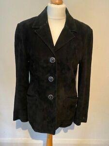 Versace Versus Black Suede Smart Vintage Blazer Jacket 30 12