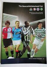 More details for newcastle gateshead cup programme 2004 rangers feyenoord sporting lisbon