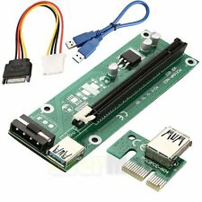 USB 3.0 PCI-E Express 1x To 16x Extender Riser Card Adapter & Power Cable Mining