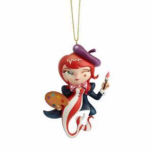 Enesco World of Miss Mindy L'Artiste Mermaid Hanging Ornament 3.54 Inch