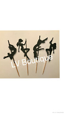 Stripper cupcake toppers, pole dancing cupcake toppers, stripper party decor
