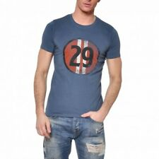VON DUTCH T-Shirt Col Rond Coton Homme Stee Coloris Bleu STEE/DI