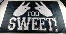 Marty Scurll Signed Too Sweet Flag Banner 36x60 Autographed Bullet Club New