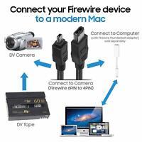 BANDRIDGE 2m Cavo FireWire IEEE 1394 4-6 maschio 4pin a maschio 6pin videocamera