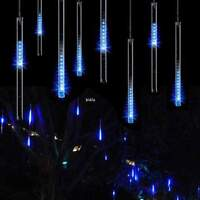 LED Meteor Shower Falling Rain Drop Icicle Snow LED Lights New Year Decoration