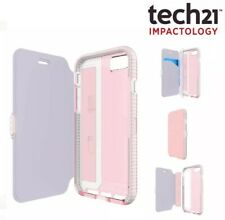 tech21 EVO Wallet FlexShock Protective Folio Case Cover for iPhone 8 7 Pink Rose