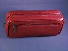 Diabetic Insulin Pen & Glucometer / Glucose meter Deep RED premium leather case