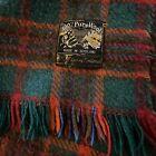 Vintage+Wool+Blanket+Throw+Edgar+of+Scotland+Red++Green+Blue+100%25+Pure+Wool