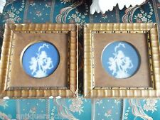 ANTIQUE Pate-Sur-Pate pair of framed plates dancing angels, by Barriere,Limoges