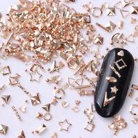 Rose Gold Nagel Glitzersteine Straßsteine Shinning star 3D Nail Art Strass Stud