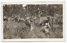 C.E.F. Soldiers resting during Exercises somewhere in Canada 1907-17 WW1 RPPC 2