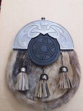 Écossais Homme Robe Complète Kilt Sporrans Peau de Phoque Celtique Cantel