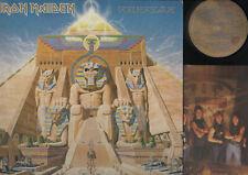 LP IRON MAIDEN POWERSLAVE MADE IN ITALY 1984 HARD ROCK METAL + INNER SLEEVE