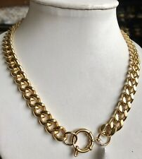 GOLD  Plating Stainless Steel Curb Chain Necklace (Size 20)