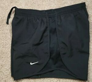NIKE DRIFIT-Black Perform.Poly, Womens Seat Lined, Fitness/Running Shorts-(L)