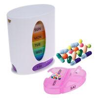Pill Box 7 Day Week Daily Organiser Medicine Tablet Storage holder Dispenser HOT