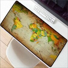 Large Gaming Mouse Pad Old World Map Lockedge Mice Mat Keyboard Pads