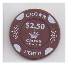 $2.50 Crown Casino - Perth - Casino Chip Plain Brown