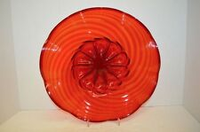 Vintage MVM Cappellin & C Red Murano Art Glass Bowl