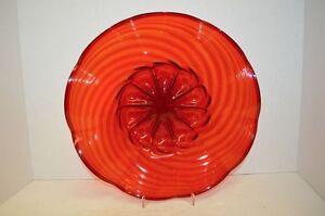 Vintage MVM Cappellin  Red Murano Art Glass Bowl