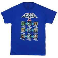 Mega Man Characters Gamer Bubble Man Heat Man Air Man Licensed Adult T-Shirt