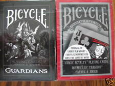 Lot 2 Deck Bicycle Guardians and Tragic Royalty Playing Cards Cardistry  Magic