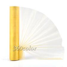 25m x 29cm Gold Sheer Organza Roll Wedding Chair Sashes Bow Table Runner Decor