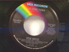 """ROSE ROYCE """"I'M GOING DOWN / YO YO"""" 45   MINT"""