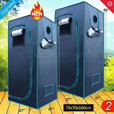 "2PCS 27""x27""x63"" Indoor Grow Tent Room Hydro Home Box Plant Reflective Mylar Hut"