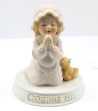 Holly Hobbie figurine Christmas 1978 prayer limited edition teddy bear sculpture