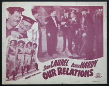 OUR RELATIONS STAN LAUREL OLIVER HARDY R-1948 LOBBY CARD