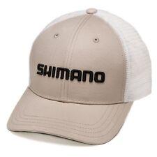 Shimano• Smokey Trucker Cap Adjustable Fishing Hat Stone--Free Shipping